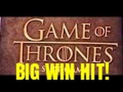 BIG WIN HIT!  GAME OF THRONES SLOT MACHINE BONUS