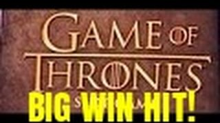 BIG WIN HIT!  GAME OF THRONES SLOT MACHINE BONUS(, 2016-04-30T23:55:35.000Z)