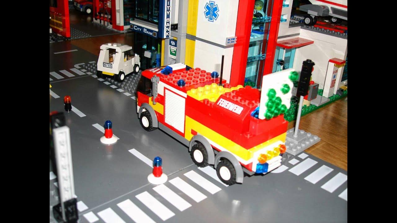 camion de pompier lego city youtube - Lego City Pompier