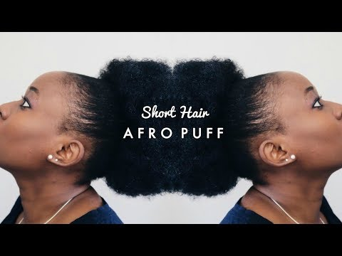 HOW TO GET A BIG AFRO PUFF ON SHORT NATURAL HAIR ft. Sensationnel Instant Pony | MissTinasheXO