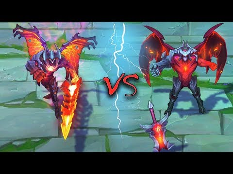 AATROX ALL SKINS Old VS New Comparison Rework - League of Legends