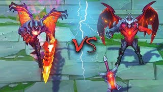 AATROX ALL SKINS Old VS New Comparison Rework - League of Legends