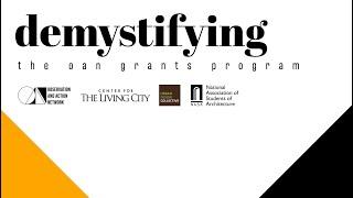 Demystifying the OAN Grants Program