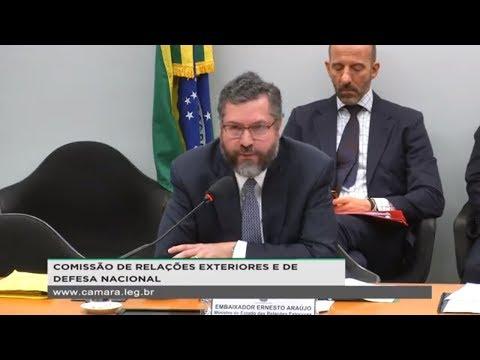 RELAÇÕES EXTERIORES E DE DEFESA NACIONAL - Presença do ministro Ernesto Araújo - 27/03/2019 - 10:35
