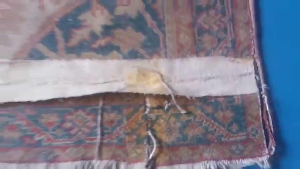 limpieza y restauración de alfombras madrid: inspección revés 1