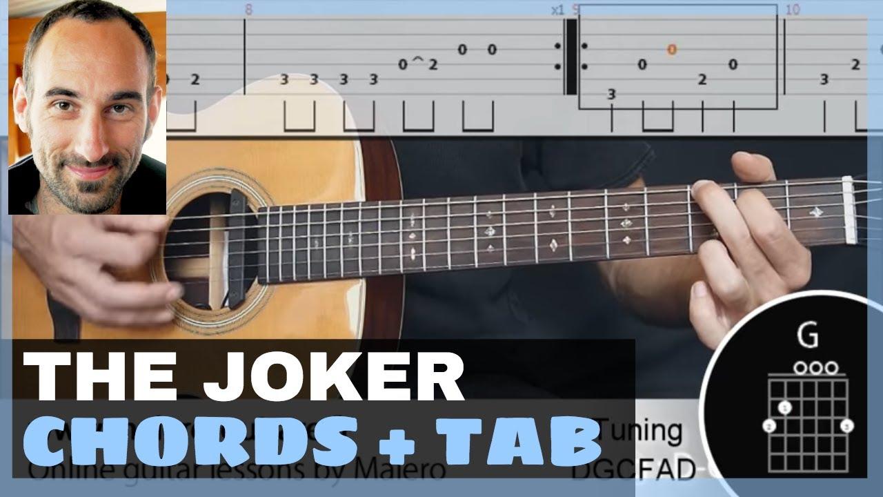 The Joker Training Track Guitar Tab Chords Youtube