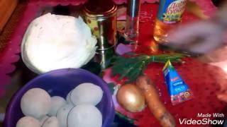 Тушеная капуста с картошкой!