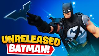 *UNRELEASED* BATMAN ZERO Skin in Fortnite