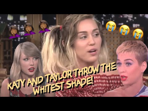 Miley Cyrus Speaks to Katy Perry (w/ Nicki Minaj and Taylor Swift)