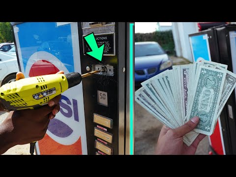 We Found MONEY In This Abandoned Vending Machine!!