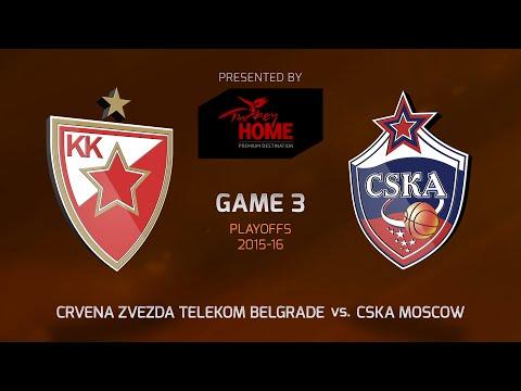 Highlights: Crvena Zvezda Telekom Belgrade-CSKA Moscow, Game-3