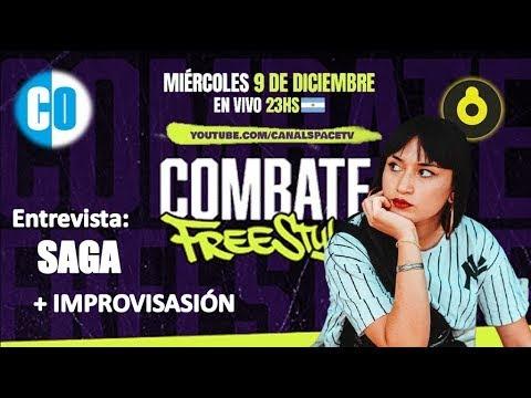 Llega a Argentina COMBATE FREESTYLE: Del barrio a Space,  rueda de prensa con SAGA  | Estereofonica