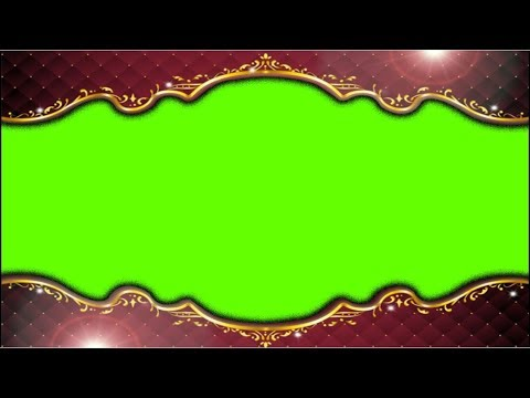 Wedding Red Frame Motion Video Background With Green Screen