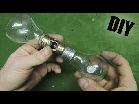 How to Make • Coffee Machine Vacuum Lightbulbs