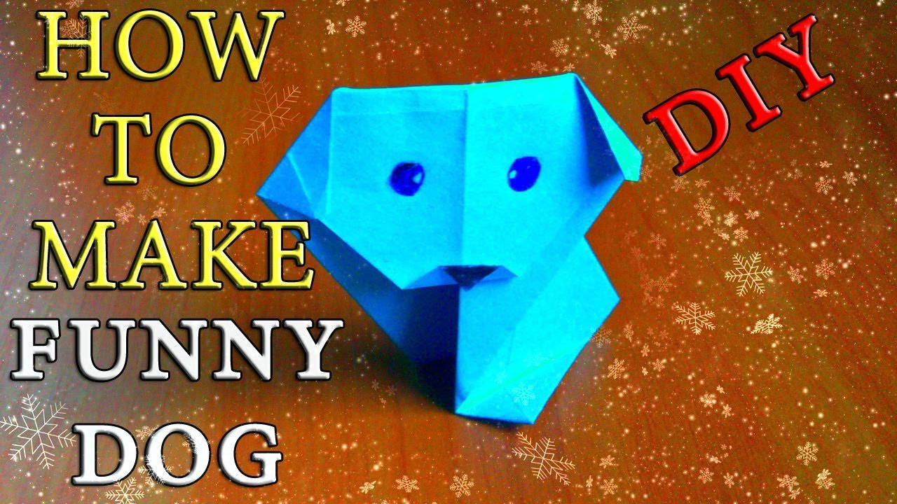 Easy Dog Out Of Paper Origami Crafts New Year Symbol 2018 Children
