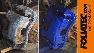 🎨 Покраска суппортов термостойкой краской 🔵 Foliatec Racing Blue
