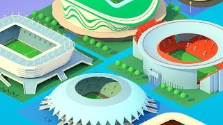 Soccer Clicker Stadium Builder Gameplay | Android Simulation Game