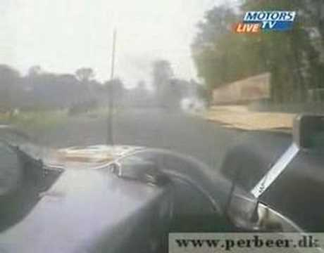 Stephane Ortelli crashing at Monza