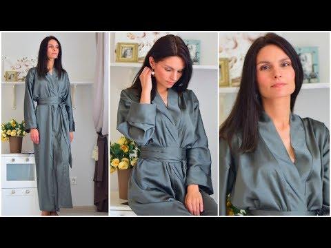 Как сшить халат с запахом без выкройки