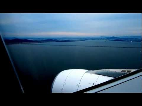 Landing to Incheon by Malaysia Airlines MH 066 (16 Sep 2012) from KLIA Airbus A330 300