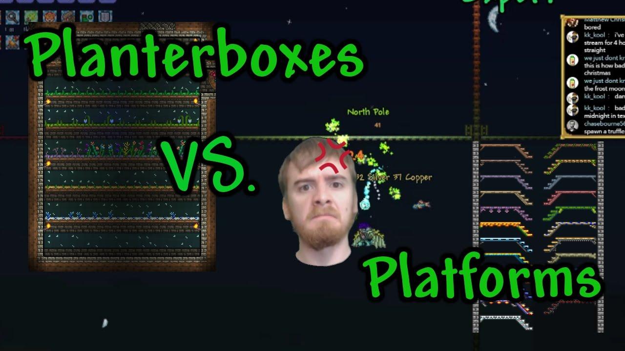 Terraria: planter boxes vs platforms   youtube