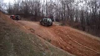 Suzuki Vitara muddy hill Romania
