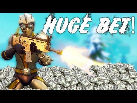 HUGE FORTNITE BET IF I WIN! *SO MUCH MONEY* Fortnite Battle Royale