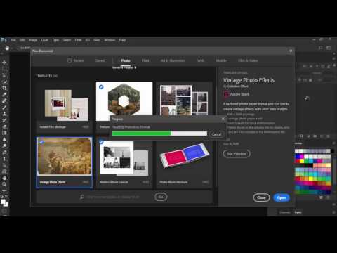What's New In New Document Dialog In Photoshop CC 2017
