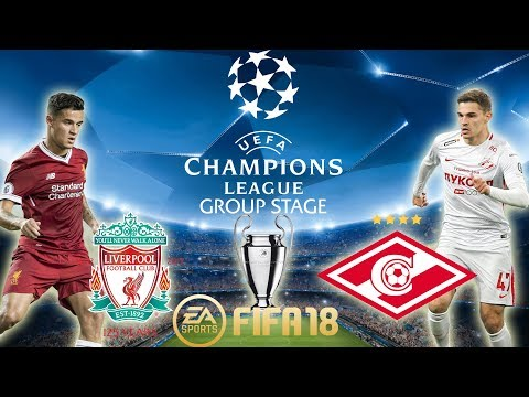 FIFA 18 Liverpool vs Spartak Moscow | Champions League Group Stage 2017/18 | PS4 Full Match