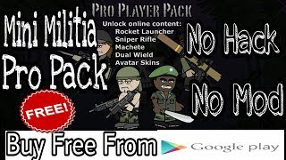 How To Buy Mini Militia Pro Pack Free From Google Play store