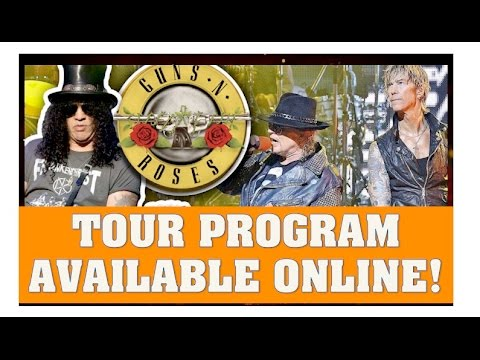 Guns N' Roses News  Not In This Lifetime Tour Program Available Online!