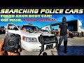 Searching Police Cars Found Axon Body Cam! Gas Mask! Ammo Arsenal!