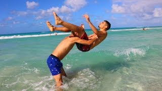 vuclip WWE MOVES AT THE BEACH 3