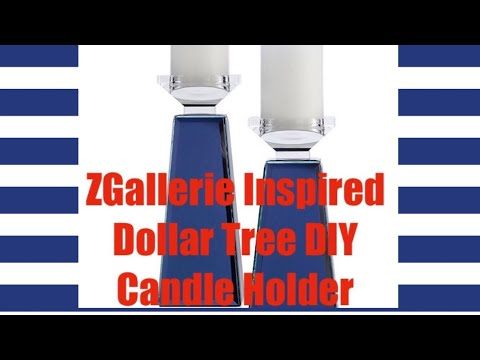 Quick DIY Projects: Dollar Tree DIY Glam Candle Holders Inspired By ZGallerie Home Decor 2019
