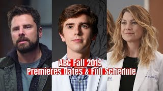 ABC Fall 2019 Premieres Dates amp Full Schedule