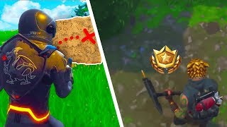 Fortnite: Follow the Treasure map found in Retail Row (WEEK 7 Battle Pass Challenges)
