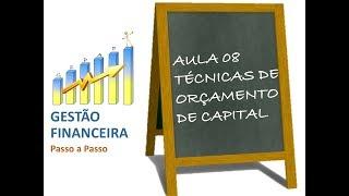 Aula 08 - Técnicas de Orçamento de Capital