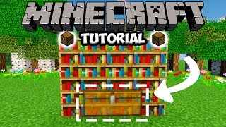 Bookshelf Secret Chest - Minecraft Tutorial 1.13.2