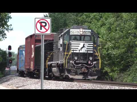Norfolk Southern local fetches  NKP 765's water tender