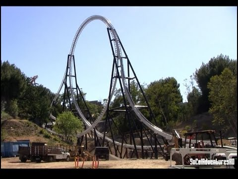 Fastest Roller Coaster In The World >> [HD] Full Throttle Construction Update Six Flags Magic Mountain - As of 5/20/2013 - YouTube