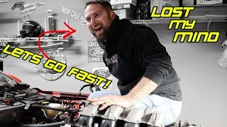 Twin Turbo'ing a 2019 Mustang GT with NO SLEEP can be DANGEROUS