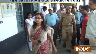 Dabangg DM Rachana Patil Scolds Staff During Govt Hospital Inspection - India TV thumbnail