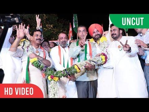SANJAY DUTT Rally For sister Priya Dutt And Navjot Singh Sidhu | Vote For Congress