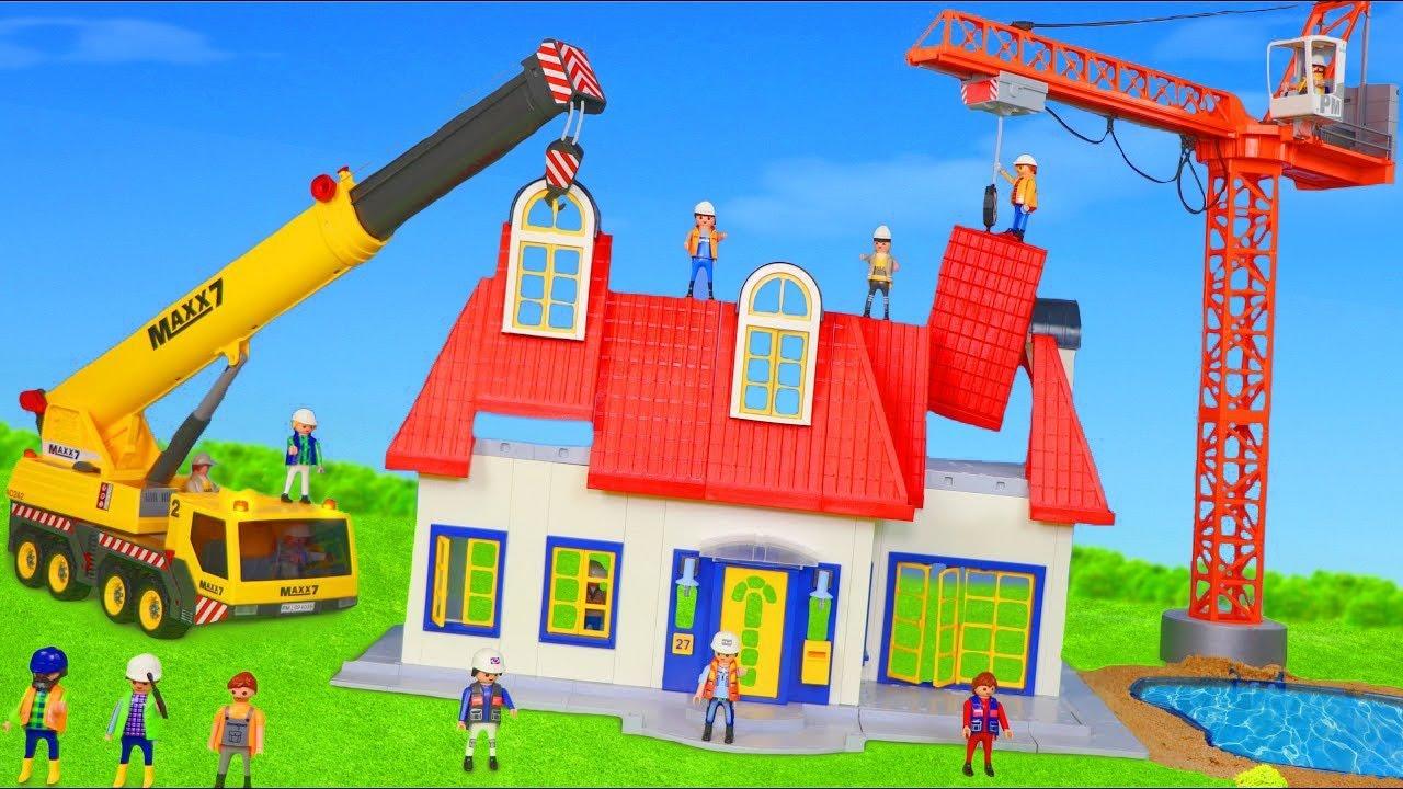 Arabalar çizgi film, Ekskavatör ve Yeni - Itfaiyeci oyuncak - Çocuk Oyuncakları - Toys for kids