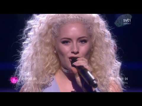 Wiktoria - As I Lay Me Down - Melodifestivalen 2017 with Subtitles/Lyrics (Semifinal 4)