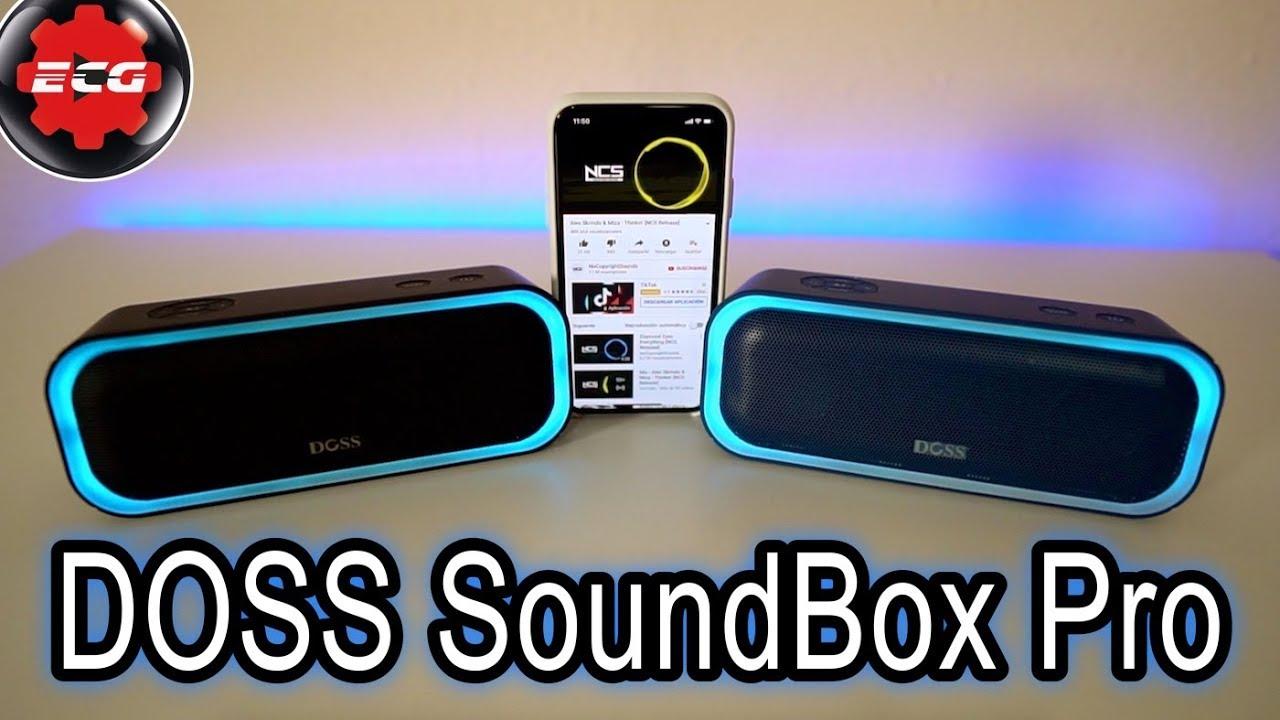 Altavoces bluetooth DOSS Soundbox Pro - YouTube