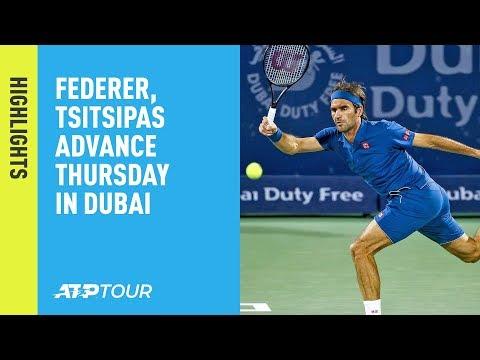 Highlights: Federer, Tsitsipas Advance On Thursday In Dubai 2019