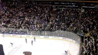 The New York Rangers score a goal in the 2014 Stanley Cup Playoffs