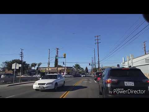 Driving From South Gate To Huntington Park,California