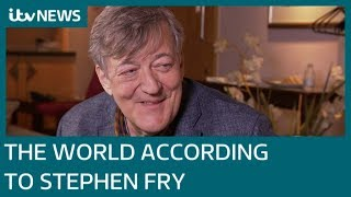 Stephen Fry on Donald Trump LGBT lessons his weight loss and Greek mythology  ITV News